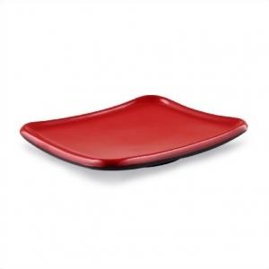 Тарелка квадратная 14,2 см*12,2 см  ч/кр