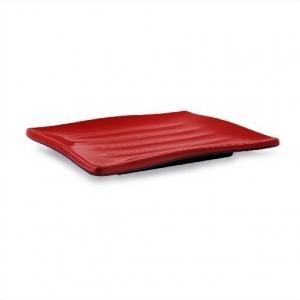 Тарелка прямоугольная 22*17,8 см. ч/кр*