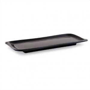 """Тарелка прямоугольная 25,4*10 см. """"Черный"""""""