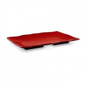 Тарелка прямоугольная 25,5*18.5 см. ч/кр