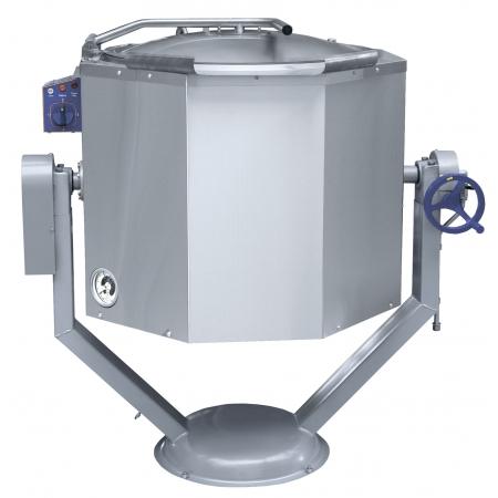 Котел пищеварочный 160 л Abat КПЭМ-160 ОР опрокид. с ручным приводом 1204х861х1198 мм