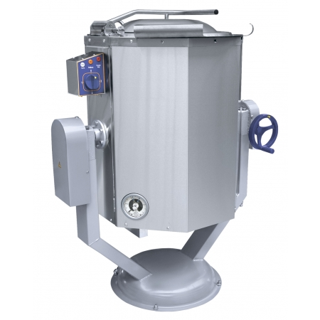 Котел пищеварочный  60 л Abat КПЭМ-60 ОР опрокид. с ручным приводом 958х636х1135 мм