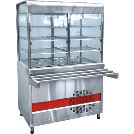 Прилавок-витрина холодильный Аста ПВВ-70КМ-С-02-НШ 1120х1030х1720 мм