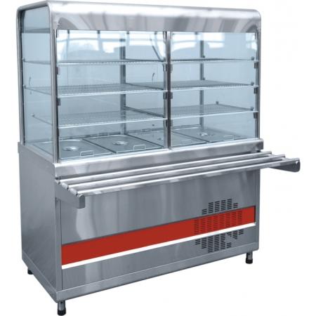 Прилавок-витрина холодильный Аста ПВВ-70КМ-С-03-НШ 1500х1030х1720 мм