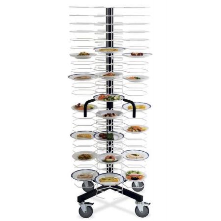 Тележка-шпилька MetalCarrelli на 96 тарелок (180 мм и 240 мм) 3010