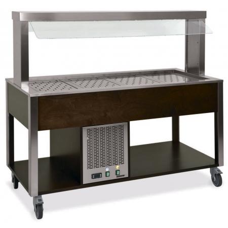 Стол Шведский охлаждаемый MetalCarrelli (защитное стекло статичное) 6900