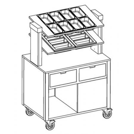 Прилавок для столовых приборов MetalCarrelli 6900 A20