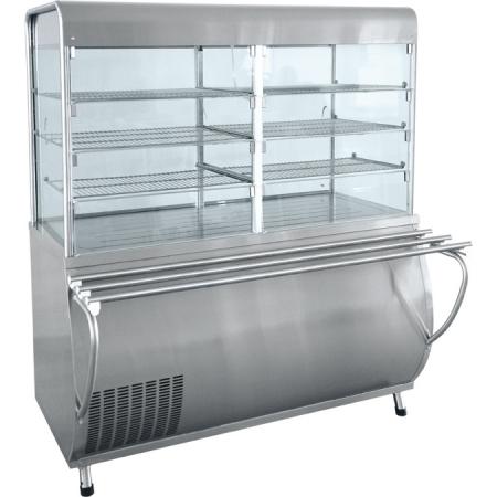Прилавок-витрина холодильный Патша ПВВ-70М-С-ОК  1500х1080х1720 мм