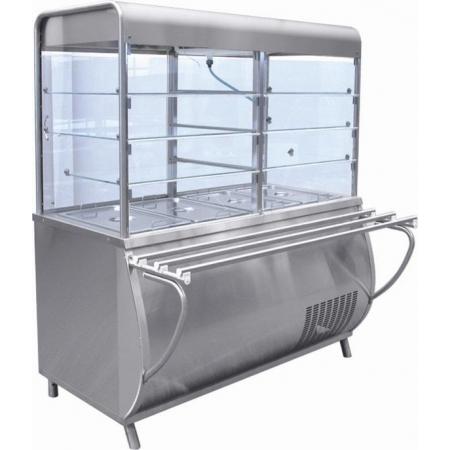 Прилавок-витрина холодильный Патша ПВВ(Н)-70М-С-НШ 1120х1040х1700 мм