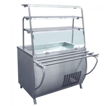 Прилавок-витрина холодильный Премьер ПВВ-70Т-01  1500х1025х1625 мм