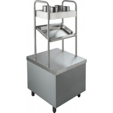 Прилавок для приборов с хлебницей Rada ПП-2-6/7СХ 630 х 675 х 680(1630) мм