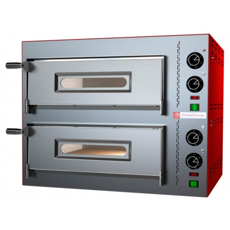 Печь для пиццы PIZZA GROUP Compact M35/8-B (2 камеры) 580x510x480 мм d = 350 мм 2 пиццы