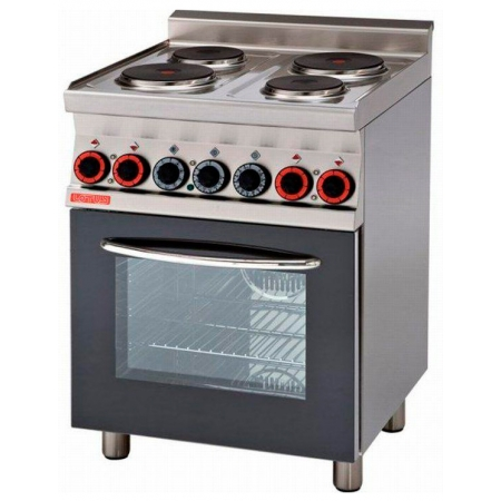 Плита электрическая 4-х конфорочная LOTUS CF4-8ET с жар/шкафом 800х650х870 мм (серия 65)
