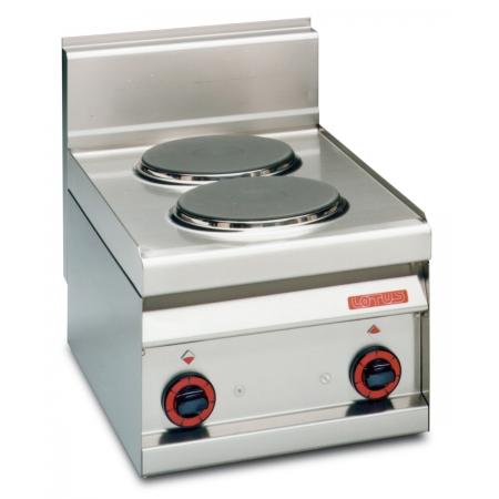 Плита электрическая 2-х конфорочная LOTUS PC-4ET без жар/шкафа 400х650х290 мм (серия 65)
