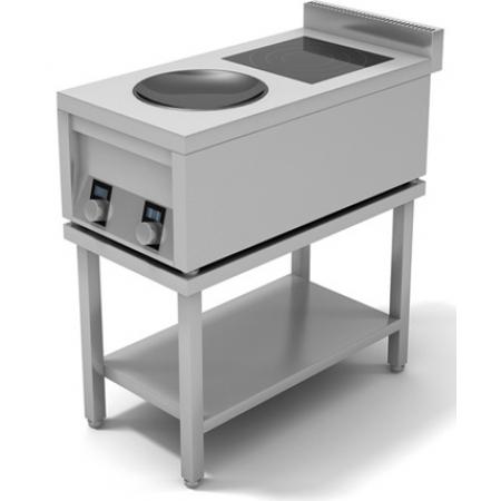 Плита индукционная 2-х конфорочная ИПК-210115 плоская и ВОК