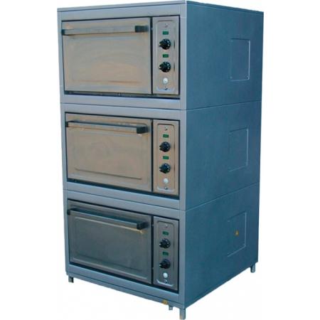 Шкаф жарочный ШЖЭ-00 трехсекционный, 2 уровня, 850х900х1625 мм
