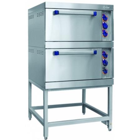 Шкаф жарочный Abat ШЖЭ-2-01 двухсекционный, 8 уровней, нерж./духов., от 840 до 900х900х1510 мм