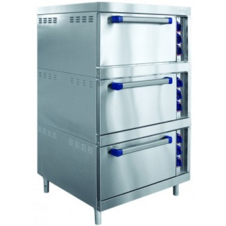 Шкаф жарочный Abat ШЖЭ-3-К-2/1 трехсекционный, 12 уровней GN 2/1, конвекц., от 840 до 900х900х1500 мм