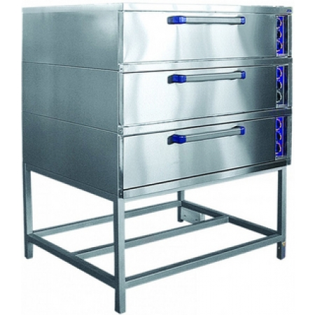 Шкаф пекарский Abat ЭШ-3К трехсекционный, 3 уровня, 1300х980х1670 мм