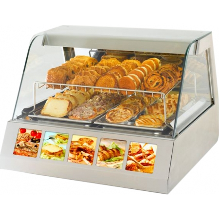 Тепловая витрина Roller Grill VVC 800 590x350x390 мм +20C +91C, настольная