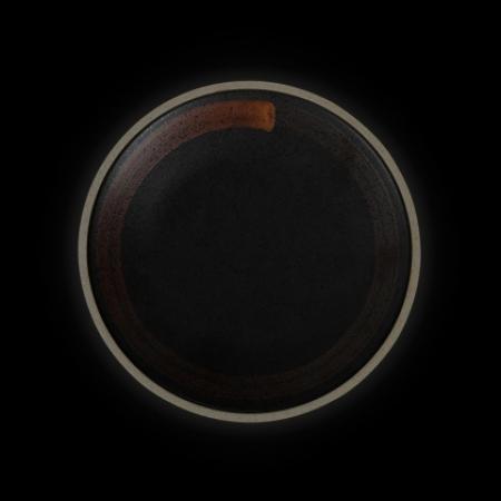 Тарелка мелкая 210 мм черная с медным Сorone Rustico